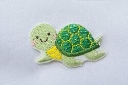 Skildpadde strygemærke glimmer 2x3cm