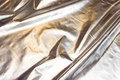 Sølvlamé med hvid bagside, fast stof