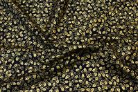 Sort flot bomuld med guld kristtjørn