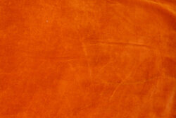 Stræk-velour i brændt orange