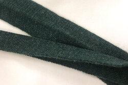 Strikket foldebånd flaskegrøn 3cm