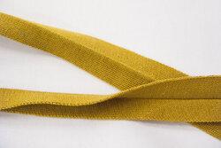 Strikket foldebånd karrygul 3cm