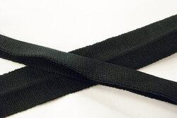 Strikket foldebånd sort 3cm