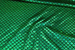 Foliejersey med grønt Holografitryk