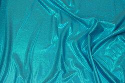 Turkis folie-jersey med glimmer