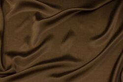 Tobaksbrun, superflot sandvasket silke