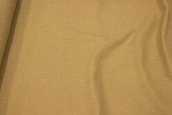 Dobbelvævet bomuld (gauze) i beige