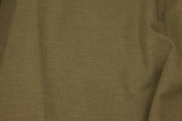 Vasket Ramie i khaki-farvet  - let crinklet