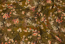 Lys brun bluse-viscose med kirsebærgrene