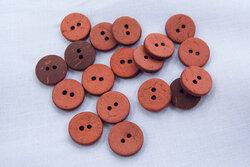 Rustik kokosknap teglrød 12mm