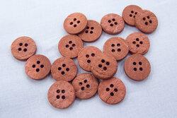 Rustik kokosknap marsala 15mm