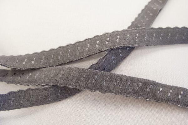 Foldeelastik med tungekant grå 1cm
