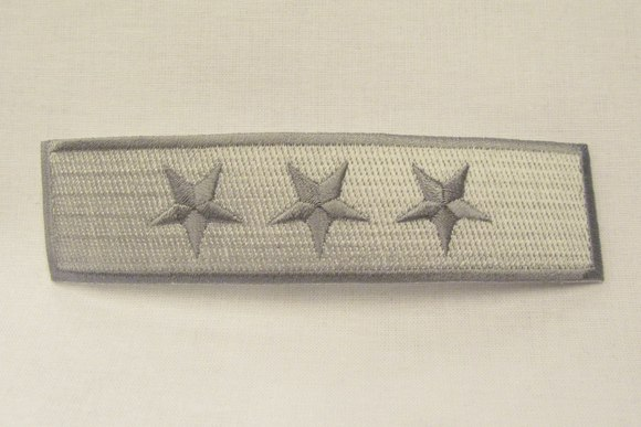 Stjernestrygemærke grå, 12 x 3 cm