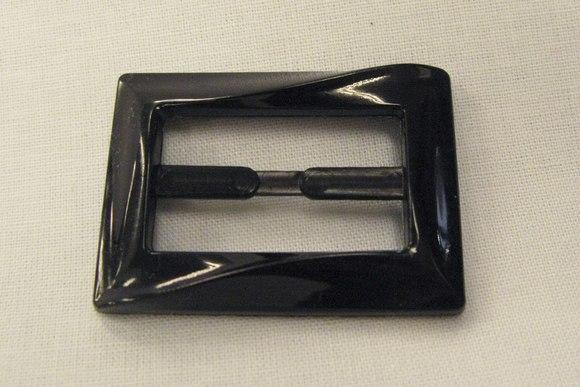 Bæltespænde sort 3cm