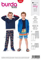 Bukser, shorts, stræk i talje. Burda 9292.