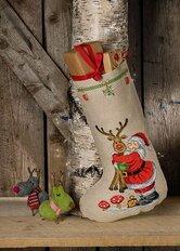 Julesok Julemand med Rudolf. Permin 41-0231.