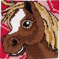 Permin 9281. Hest med hvid stribe.
