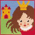 Permin 9314. Prinsesse med krone og slot.