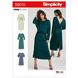 Kjoler med længde varianter. Simplicity 9010.
