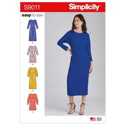 Strik pullover kjoler. Simplicity 9011.