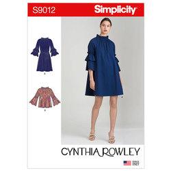 Kjoler med top og bælte. Simplicity 9012.