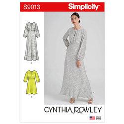 Kjoler i to længder. Simplicity 9013.