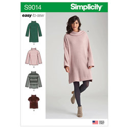 Strik-top med variationer. Simplicity 9014.