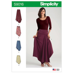 Asymmetrisk nederdel. Simplicity 9016.