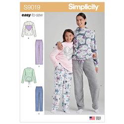 Hyggetøj, joggingtøj, afslapning. Simplicity 9019.