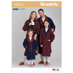 Morgenkåber til børn og voksne. Simplicity 9021.