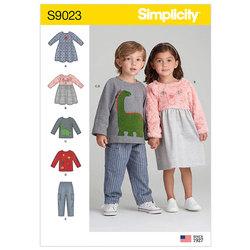 Kjoler, toppe og bukser. Simplicity 9023.