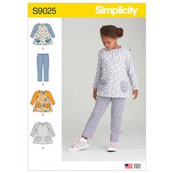 Top og strik leggings. Simplicity 9025.