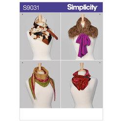 Halstørklæder, halsklude. Simplicity 9031.