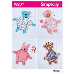 Tøjdyr til babyer. Simplicity 9037.