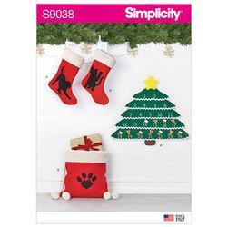 Julesok, julepose og pakkekalender. Simplicity 9038.