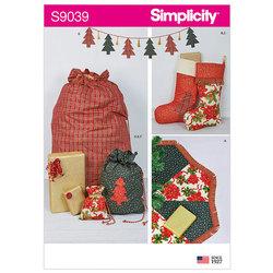 Dekorationer til jul og højtiden. Simplicity 9039.