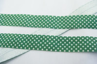 Folde-elastik prikker grøn 2cm
