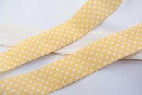 Folde-elastik prikker gul 2cm