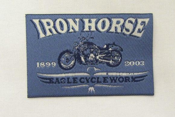 Iron horse strygemærke 5x8cm