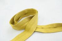 Jersey kantebånd karry gul 2 cm bred