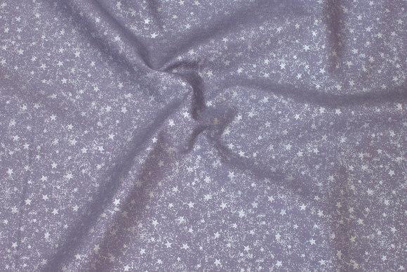 Lysegrå bomuld med stjernestøv-tryk