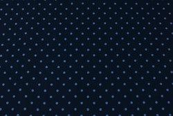 Marine bomuldsjersey med 5 mm lyseblå prik