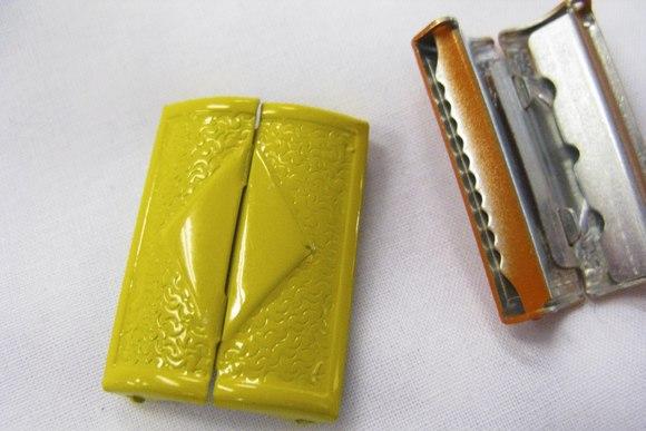 Metalspænde gul 4cm