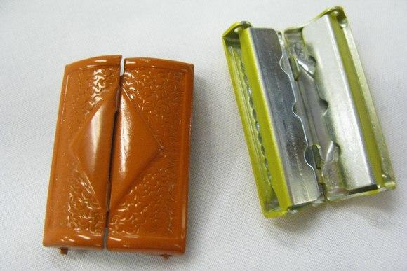 Metalspænde orange 4cm