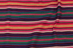 Mexi-striber i lilla, grøn, orange
