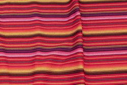 Mexi-striber i orange, rød og lilla