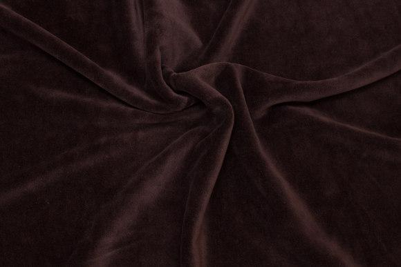 Mørkebrun stækvelour