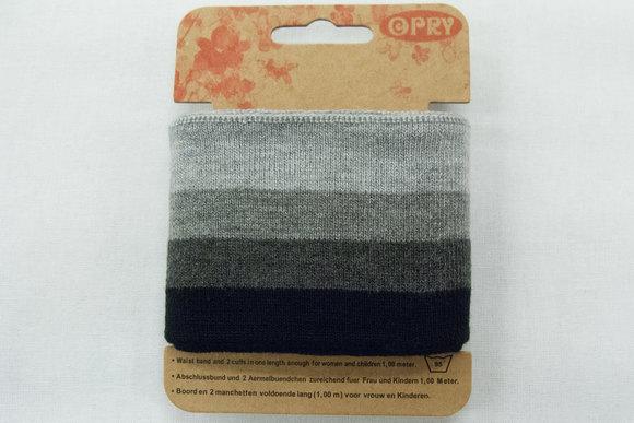 Ribkant sort og grå farver