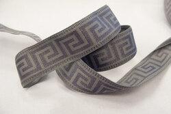 La grecque bånd grå/grå 2,4cm