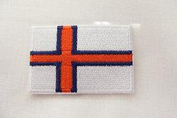 Færøsk flag strygemærke 6 x 4 cm